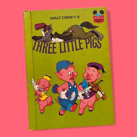 "70s Vintage Disney Book: ""Three Little Pigs"""
